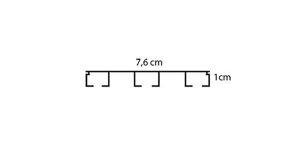σιδηρόδρομος κουρτίνας τριπλός Δανίας- διαστάσεις