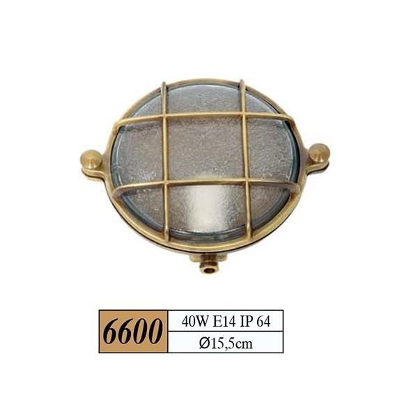 Χελωνα Στρογγυλη Χρωμα:χρυσο Διαστασεις: 60w, E14, Ip 64,Q15,5cm Κωδ 6600