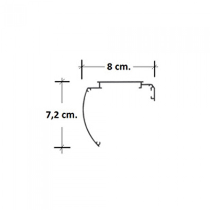 Μετοπη Roller Aλουμινιου Διαστασεις:8cm*7,2cm