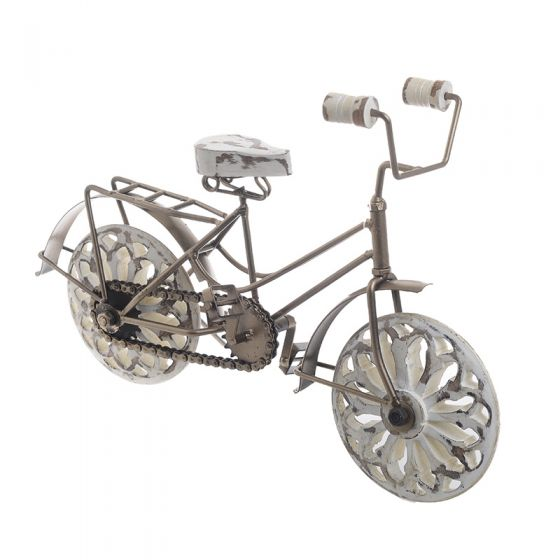 Ποδηλατο Μινιατουρα Μεταλ/Ξυλ. Χρυσο/Αντικε Λευκο Διαστασεις: 35*12*25 Κωδ 3-70-279-0101